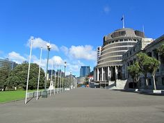 """""""The Beehive"""" (NZ Parliament)"""