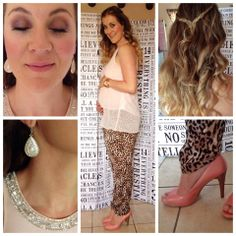 Chiffon loose top: Forever new, leopard print pants: Forever New, shoes: nine west.