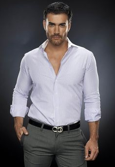 David Zepeda, Celebrities With Cats, Carlo Rivera, Celebrity Drawings, Business Outfit, Well Dressed Men, Beard Styles, Bearded Men, Sexy Men