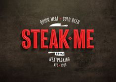 Steak Me restaurant branding