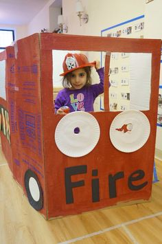 Fire truck for dramatic play area