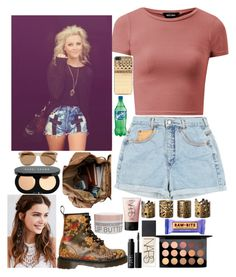 """day with Perrie"" by kennedey-lynn-freeman ❤ liked on Polyvore featuring Dr. Martens, Dot & Bo, REGALROSE, MAC Cosmetics, NARS Cosmetics, Korres, Bobbi Brown Cosmetics, Zero Gravity and Yves Saint Laurent"