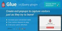 Glue: Exit-Popups to Capture Visitors