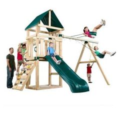 Swing-N-Slide Playsets, Hawk's Nest Playset with Summit Slide, PB 9210C at The Home Depot - Mobile