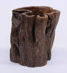 CHINESE BRUSH POTS | 4030: Chinese Tree Trunk Form Brush Pot : Lot 4030