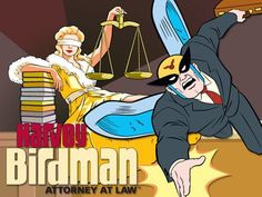 Created by Michael Ouweleen, Erik Richter.  With Gary Cole, Thomas Allen, Stephen Colbert, John Michael Higgins. Third-rate superhero Harvey Birdman gets a new lease on life when he becomes a lawyer.