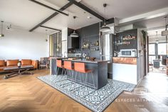 Achat appartement 3pièces 93m², Pantin - 760000€ Kitchen Island, Artisanal, Table, Furniture, Home Decor, Command Centers, Puppet, Patio, Home