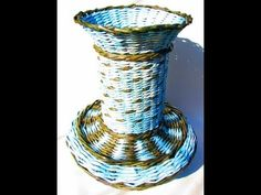 ▶ ═► How to weave oval bottom of the basket - YouTube