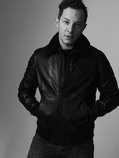Trystan Pütter wearing a Closed kleather jacket