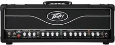The Peavey Butcher Head 100W tube guitar amp is a 2-channel amplifier with 5x 12AX7 preamp tubes and 4x EL34 power amp tubes.