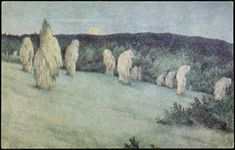 Theodor Kittelsen Grain Field in Moonlight - The Largest Art reproductions Center In Our website. Low Wholesale Prices Great Pricing Quality Hand paintings for saleTheodor Kittelsen Fairy Dust, Fairy Tales, David Friedrich, Large Art, Art Reproductions, Art For Sale, Moonlight, Grains, Fantasy