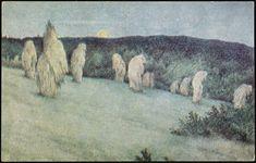 Grain Field in Moonlight Theodor Kittelsen - circa 1900