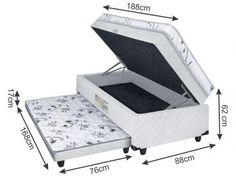 Cama Box Solteiro LightSpuma Conjugado - 62cm de Altura com as melhores condições você encontra no Magazine Pedrosabino0512. Confira!