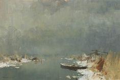 """Winter, Womack Dyke"" oil - Edward Seago"
