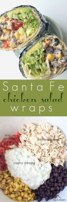 Sante Fe chicken salad wraps are loaded with a flavorful sante fe chicken salad, shredded lettuce, tomatoes, and creamy avocado. A few…