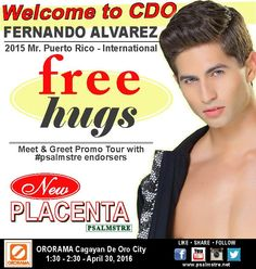 Here's your chance to meet in person Mr. See you at Ororama Supercenter this Saturday for a free hug from. Free Hugs, Puerto Rico, Events, Watch, Live, Cagayan De Oro, Clock, Puerto Ricans