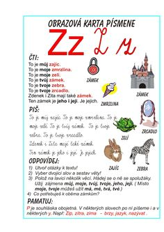 Inkluzivní škola - písmeno Z School Humor, Funny Kids, Alphabet, Preschool, Language, Teaching, Activities, Education, Retro
