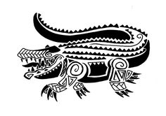 4cb3dfdde Polynesian Style Alligator Tattoo Design by Jim-Cacciabando-Jr on ...  Alligator