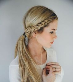 Front Row Braid - We Found the 21 Best Lazy Girl Hairstyles on Pinterest, So You Don't Have To - Livingly