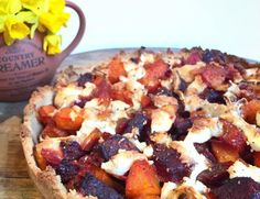 Roasted Beetroot and Squash Tart