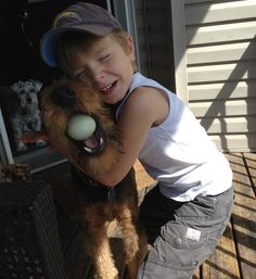 Brady and Blue (Airedale)