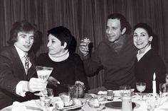 From left to right, Rudolf Nureyev, Zizi Jeanmaire, Roland Petit and Margot Fonteyn