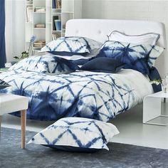 Seraya Indigo Bedding   Designers Guild