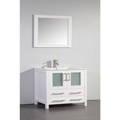 Pics On Design Element London Single Bathroom Vanity Set with Mirror u Reviews Wayfair Family Bathroom Reno Pinterest London Bathroom vanities and