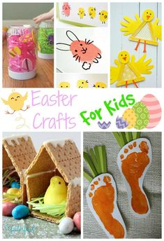 Over 25 Fun Easter Crafts for Kids of all ages - from potato stamping to handprint art, there's something creative for everyone this Easter!