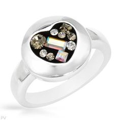 Sterling Silver Crystal Heart Ladies Ring. Ring Size 6. Total Item weight 6.3 g. VividGemz. $29.00. Save 76% Off!