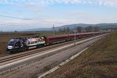 """ÖBB 1116.222 """"Red Bulletin"""" Werbelok with RJ166 #railjet towards to #Zürich, Switzerland. Photo: Gerhard Zant"""