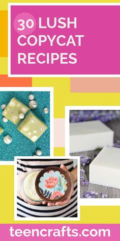 Lush Copycat Recipes to Make at Home - DIY Lush Products - Shower Jellies, DIY Bath Bombs, Lotions, Soap and Beauty Products Recipe Ideas Shower Jellies Diy, Bath Jellies, Lush Dream Cream, Lush Products, Beauty Products, Castile Soap Recipes, Tea Tree Soap, Crafts For Teens, Teen Crafts
