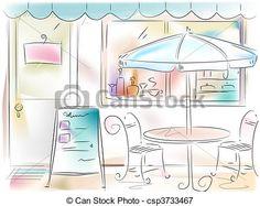 Stock de Ilustraciones - restaurante - stock de ilustracion, ilustracion libre de, stock de iconos de clip art, logo, arte lineal, retrato de EPS, Retratos, gráficos, dibujos gráficos, dibujos, imágenes vectoriales, trabajo artístico, Arte Vectorial en EPS