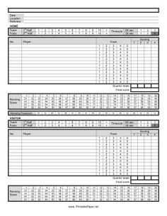 Blank Basketball Stat Sheet Printable | print this blank ...
