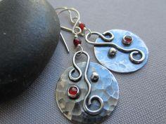 Sterling Silver Earrings/ Texturized Silver Earrings/ by mese9