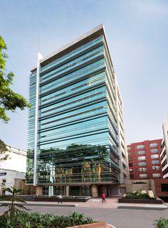 RGC Empresarial in Bogota.  #Buildings #Arquitectura #Texturas #DiseñoUrbano #Edificios #aeilatam #DiseñoDeInteriores #InteriorDesign  #Fachadas #Pieles #Facade