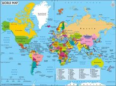 Printable World Map Labeled World Map See Map Details From Ruvur - World map of countries