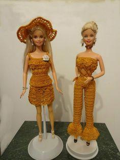 Dos estilos de ropa hecho en el mismo hilo crochet de nylon