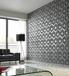 Nice textured wallpaper for a more, contemporary formal foyer
