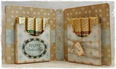 Father's day Card with Merci chocolats