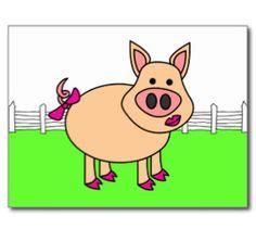 Cartoon Pig Cards