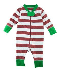 ba1f2560919c Littlest Prince Couture Red   White Stripe Playsuit - Infant