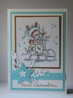 Weihnachtskarte Nr.2 mit Wee Stamps