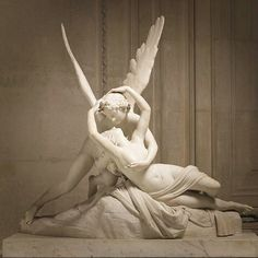 Cupid with Psyche Louvre Art Sculpture, Sculptures, Bel Art, Art Amour, Eros And Psyche, Louvre, Famous Gardens, Art For Art Sake, Paris