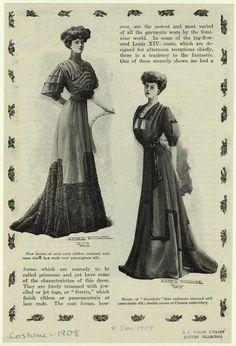 [Women in dresses, 1901s.]
