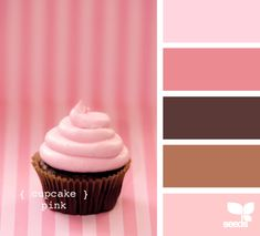 cupcake pink - brown+pinks remind me of cupcakes and brownies all.the.time