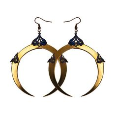 Femme Fatal Full Moon Circle Earrings  Neo Victorian by HaremRoyal, €58.00