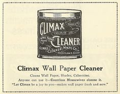 1921 ad: Climax Wall Paper Cleaner