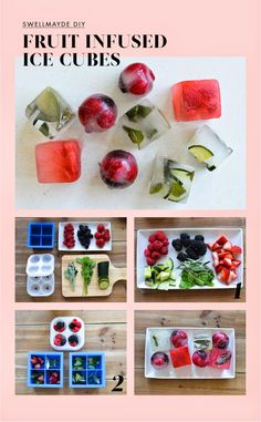 DIY   FRUIT INFUSED ICE CUBES