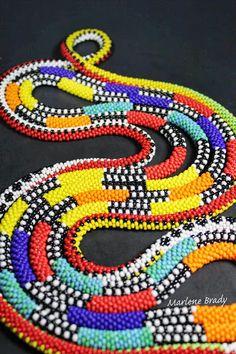 Bead crochet ropes by Marlene Brady. 8/0 beads, size 7 crochet hook and Tuff Cord #2.